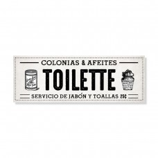 Cartel Toilette